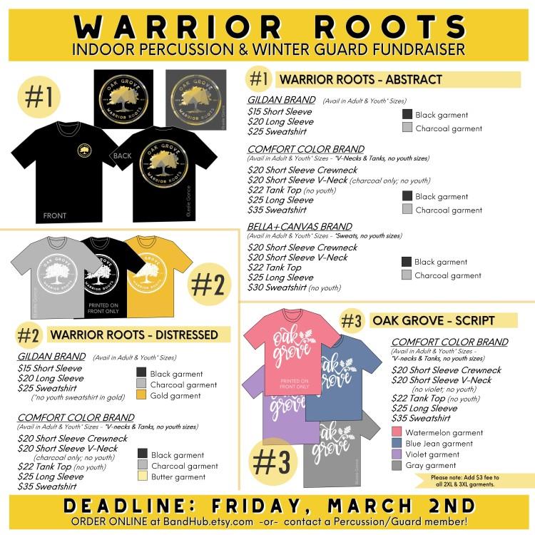 Oak Grove Warrior Roots SOCIAL MEDIA GRAPHIC